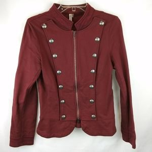 Monoreno Military Burgundy Jacket Small